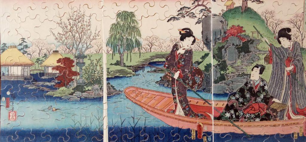 Un puzzle Michèle Wilson : une rivière en asie