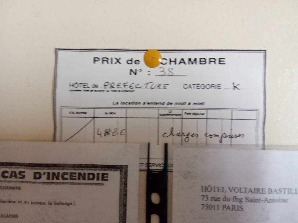 Chambre 38 : 482€, charges comprises