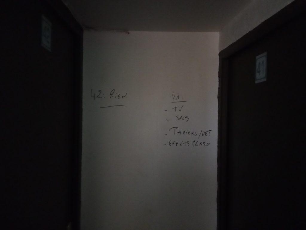L(inventaire des chambres après l'expulsion des Chibanis