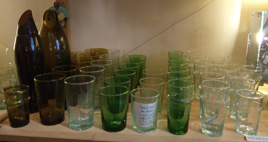 Une collection de verres...