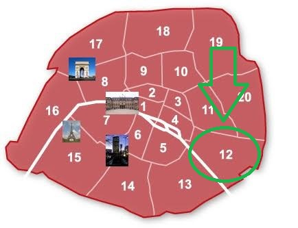Plan de la visite de Paris : le 12e arrondissement à trottinette !